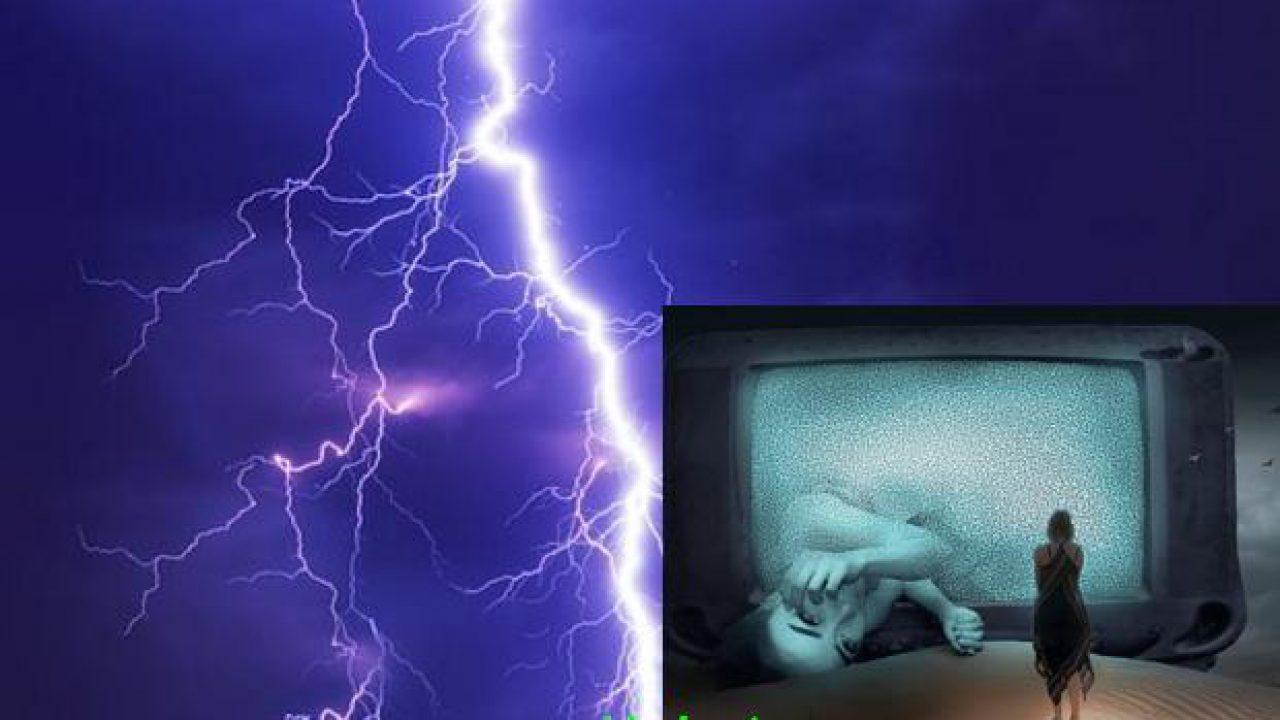 TV menyala bisa Tersambar petir